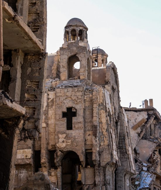 A church destroyed by ISIS